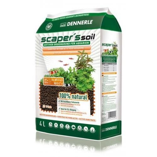 Dennerle Scaper's Soil - Питательный грунт, зерно 1-4 мм, 4 л