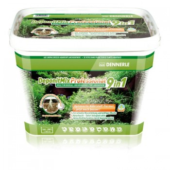 Dennerle DeponitMix Professional 9in1 - Профессиональная грунтовая подкормка для аквариумных растений, ведро 9,6 кг на 160 - 250 л