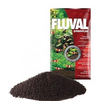 Fluval Stratum 4 кг - питательный грунт для креветок и растений.