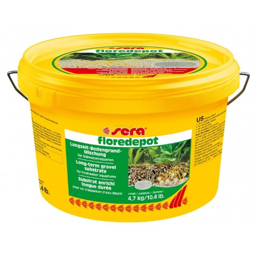 """Sera Грунт для аквариумных растений """"Floredepot"""", 4,7 кг"""""""