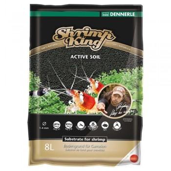 Dennerle Shrimp King Active Soil 8 л, активный донный грунт для пресноводных аквариумов с креветками.