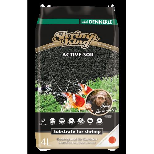 Dennerle Shrimp King Active Soil 4 л, активный донный грунт для пресноводных аквариумов с креветками