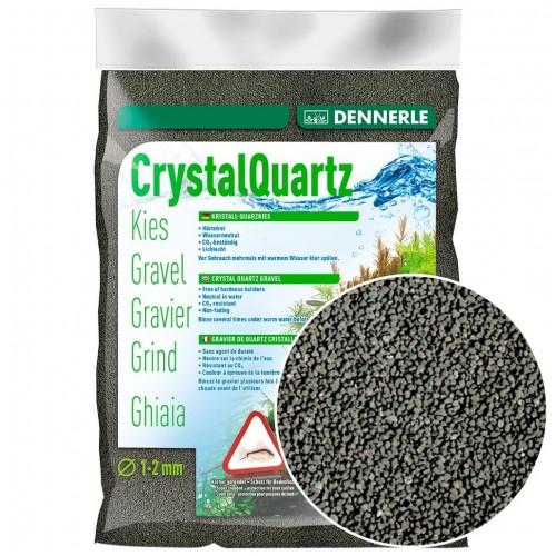 Dennerle Crystal Quartz Gravel, черный, 5кг, Грунт