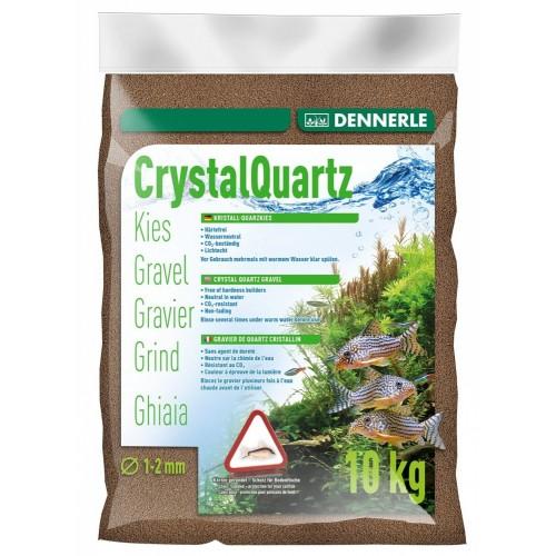 Dennerle Crystal Quartz Gravel, темно-коричневый, 10кг, Грунт