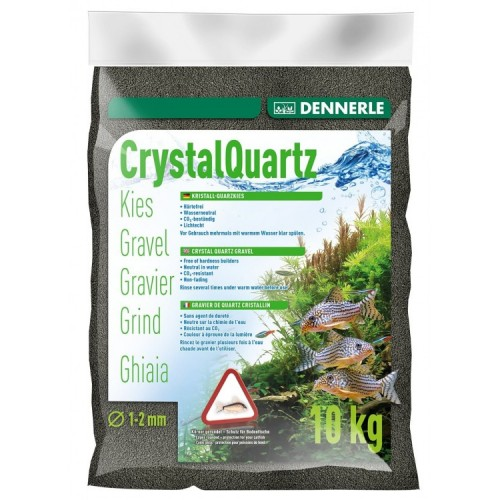 Dennerle Crystal Quartz Gravel, черный, 10кг, Грунт