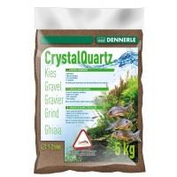 Dennerle Crystal Quartz Gravel, темно-коричневый, 5кг, Грунт