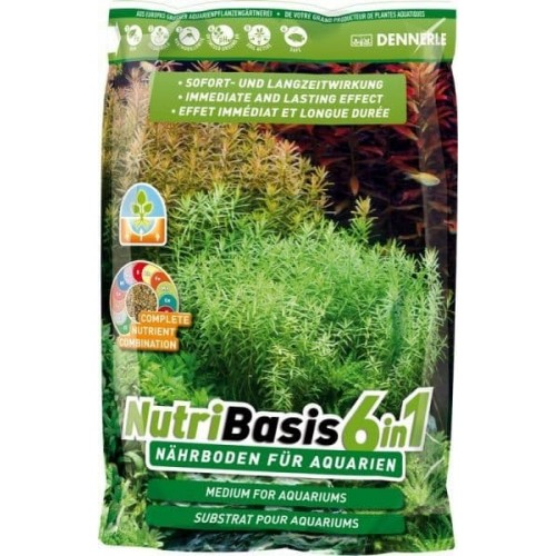 Dennerle NutriBasis 6in1 - Грунтовая подкормка для аквариумных растений, 2,4 кг