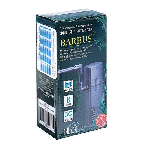 Barbus FILTER 023  Фильтр внутренний кристал 600л/ч  8ватт.