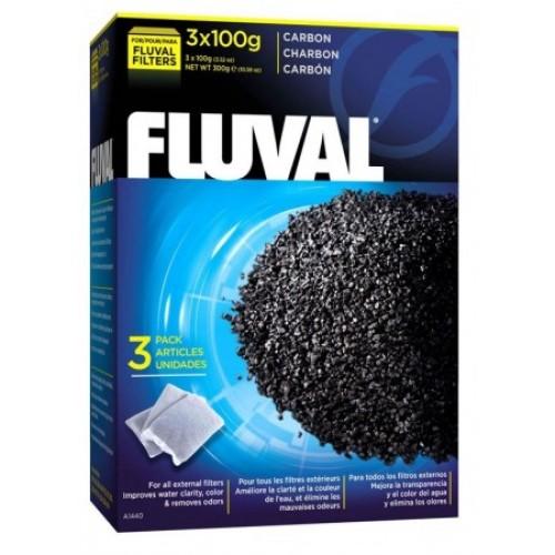 Fluval Уголь активированный для фильтра 100 г х 3 шт