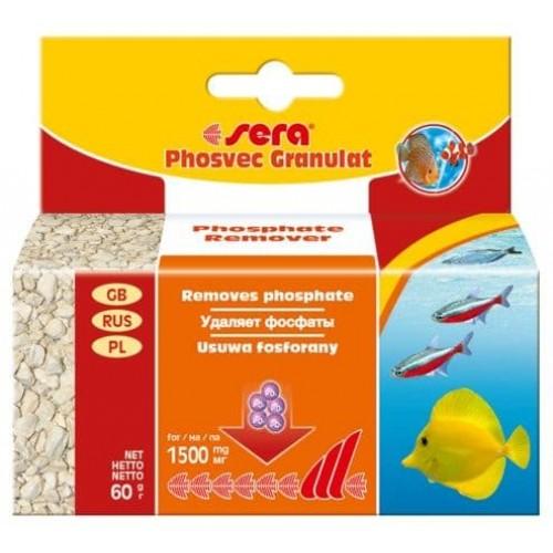 Sera Phosvec Granulat 60 г - наполнитель для аквариумных фильтров для устранения фосфатов
