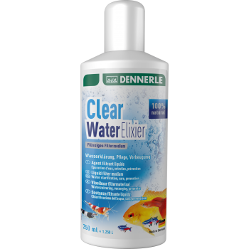 Dennerle Clear Water Elixier - препарат для очистки аквариумной воды, 250 мл на 1250 л
