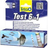 Тetra 6 В 1 Тест для  пресной воды GH/KH/NO2/NO3/PH/CL Полоски